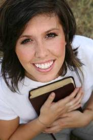 Woman with Bible, Smiling