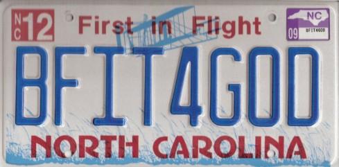 BFIT4GOD License Plate