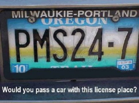 PMS24-7 License Plate