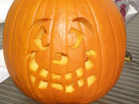 Pumpkin With Silly Smile