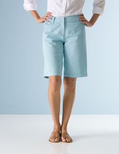 Woman's legs in long shorts