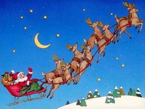 Santa-Sleigh-Reindeer