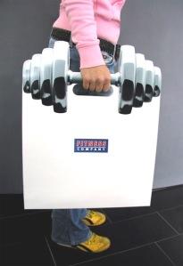 Barbell Shopping Bag