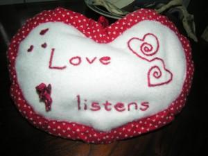 Love Listens pillow
