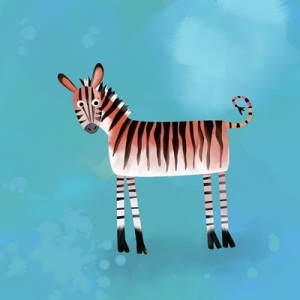 An Embarrassed Zebra