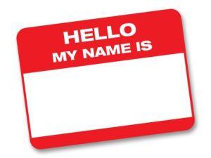 Hello - Name Tag