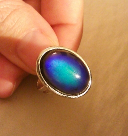 Holding a Mood Ring