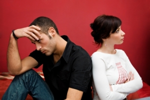 Woman angry with husband