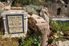 Sign at Jesus' Tomb