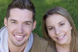 Teen Boy & Girl - smiling