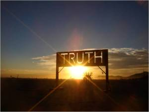 Truth Banner with light
