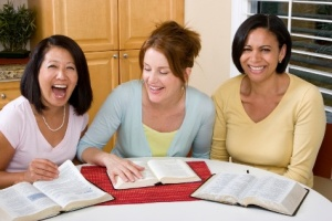Three Women and Bibles