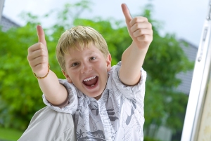 Positive Attitude boy - Thumbs Up!