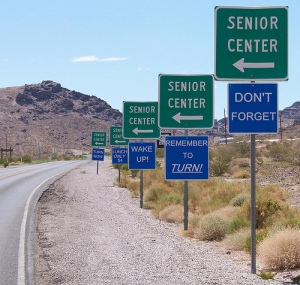 Signs to Senior Center