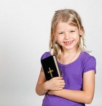 Little Girl with Bible